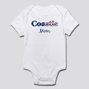 Coastie Mom (Patriotic) Infant Bodysuit