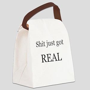 Shit Just Got Rea Canvas Lunch Bag