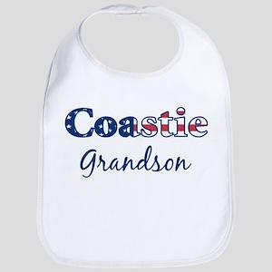 Coastie Grandson (Patriotic) Bib