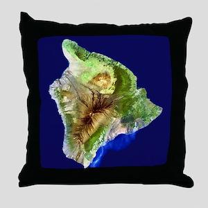 Big Island from Landsat Throw Pillow