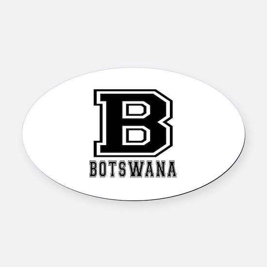 Botswana Designs Oval Car Magnet