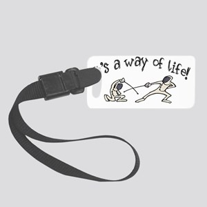 Fencing Small Luggage Tag