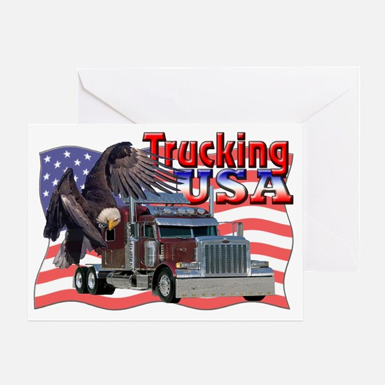 Trucking Greeting Card