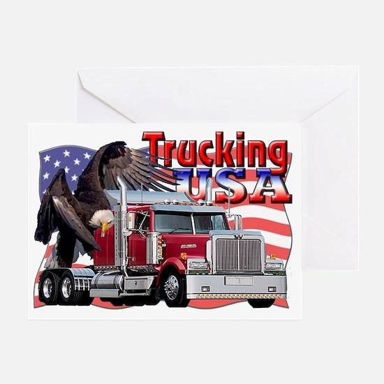 Trucking7 Greeting Card