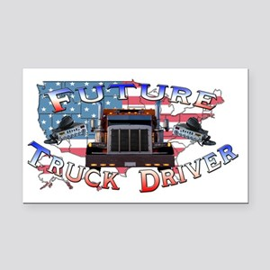 truckdriver Rectangle Car Magnet