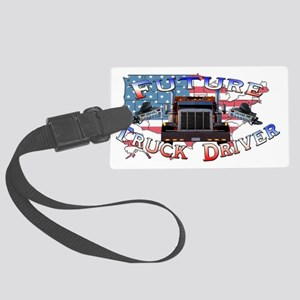 truckdriver Large Luggage Tag