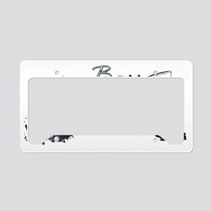 Bassfishing License Plate Holder