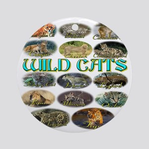 wildcats Round Ornament
