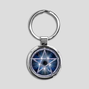 poster pentagram Round Keychain