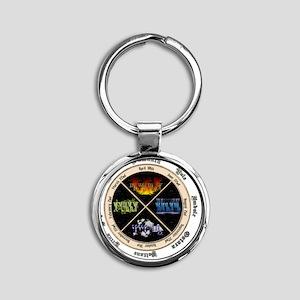 pagan-elements-holidays Round Keychain