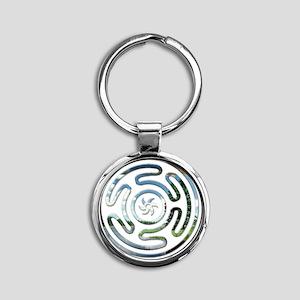 Hecates Wheel11 Round Keychain