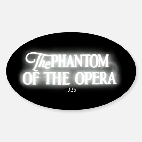 The Phantom of the Opera 1925 Oval Decal