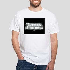 The Phantom of the Opera 1925 White T-Shirt