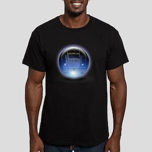 trucker orb2 Men's Fitted T-Shirt (dark)