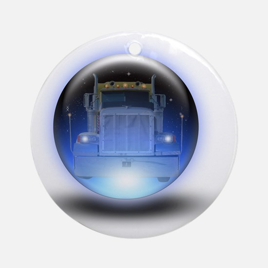 trucker orb2 Round Ornament