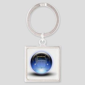 trucker orb2 Square Keychain