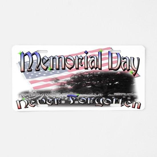 memorial day mug Aluminum License Plate