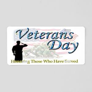 Veterans mug Aluminum License Plate