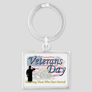 veterans 2 Landscape Keychain