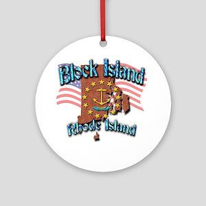 Block Island Round Ornament
