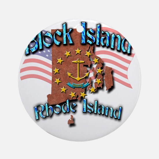 Block Island Round Ornament