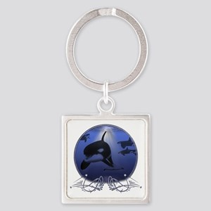 killerwhale Square Keychain