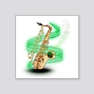 "Saxophone wrap Square Sticker 3"" x 3"""