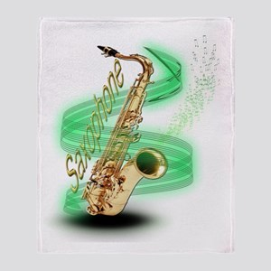 Saxophone wrap Throw Blanket