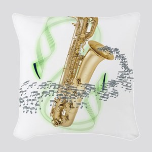 BaritoneSaxophone Woven Throw Pillow