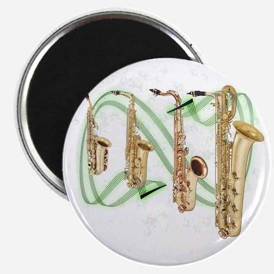 Saxophones Magnet