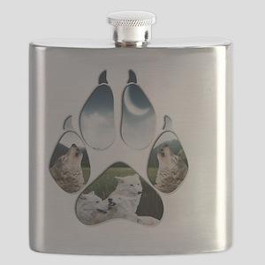 Wolf Print Flask
