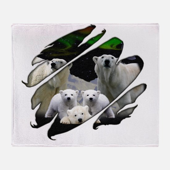 Seetru-polarbears Throw Blanket