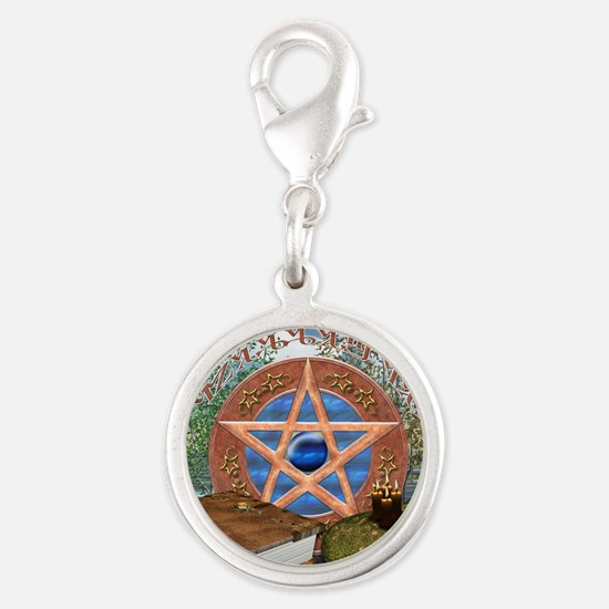 blessedbesquare Silver Round Charm