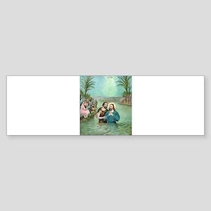 The Baptism of Jesus Christ - 1893 Sticker (Bumper