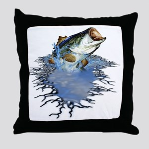 bassfishing Throw Pillow