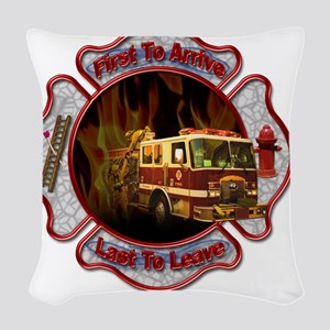 Firefighters Woven Throw Pillow