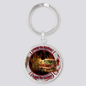 Firefighters Round Keychain