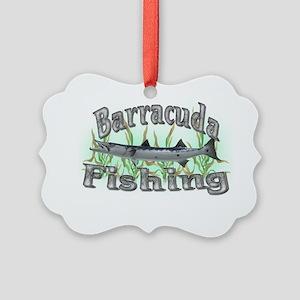 Barracuda Fishing Picture Ornament