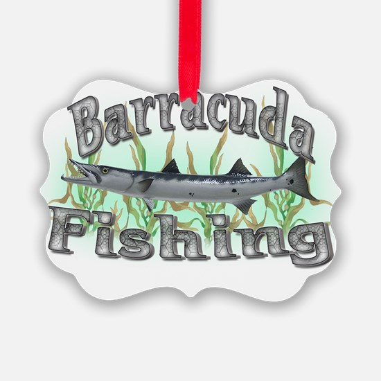 Barracuda Fishing Ornament