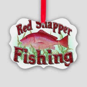 red snapper fishing Picture Ornament