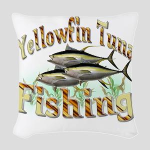 Yellowfin Tuna Woven Throw Pillow