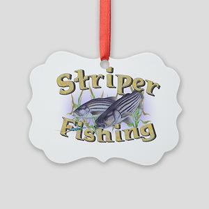 striper fishing Picture Ornament