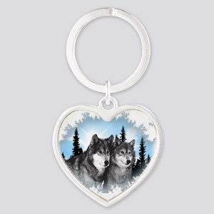 wolves Heart Keychain