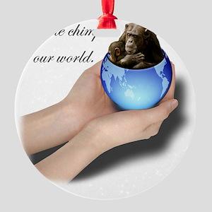 savechimps Round Ornament