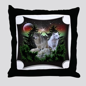 northernwolves Throw Pillow