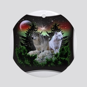 northernwolves Round Ornament