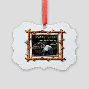 chimps planet Picture Ornament
