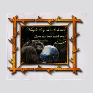 chimps planet Throw Blanket