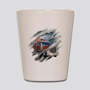 trucking Shot Glass