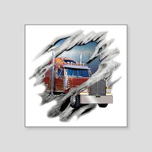 "trucking Square Sticker 3"" x 3"""
